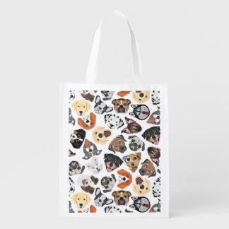 イラストレーションパターン甘い国内犬 エコバッグ
