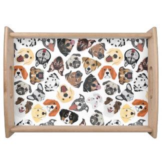 イラストレーションパターン甘い国内犬 トレー