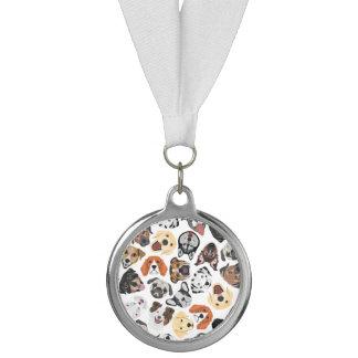 イラストレーションパターン甘い国内犬 メダル