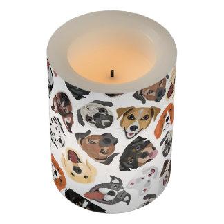 イラストレーションパターン甘い国内犬 LEDキャンドル
