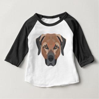 イラストレーション犬のブラウンのラブラドール ベビーTシャツ