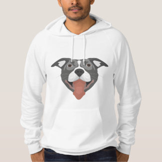イラストレーション犬の微笑のピットブル パーカ