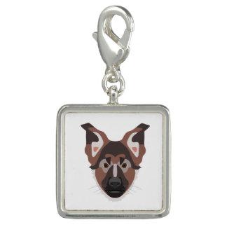 イラストレーション犬の顔のジャーマン・シェパード チャーム