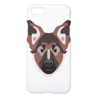 イラストレーション犬の顔のジャーマン・シェパード iPhone 8/7 ケース