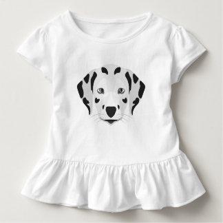 イラストレーション犬の顔のダルマチア人 トドラーTシャツ