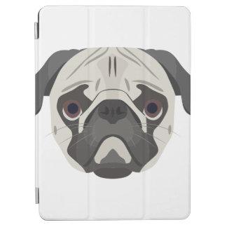 イラストレーション犬の顔のパグ iPad AIR カバー