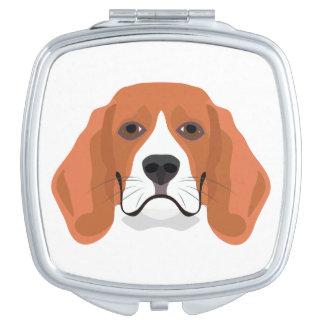 イラストレーション犬の顔のビーグル犬