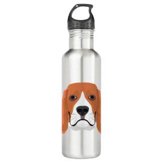 イラストレーション犬の顔のビーグル犬 ウォーターボトル