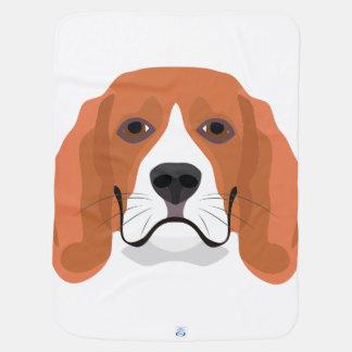 イラストレーション犬の顔のビーグル犬 ベビー ブランケット
