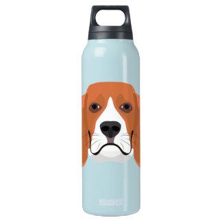 イラストレーション犬の顔のビーグル犬 断熱ウォーターボトル