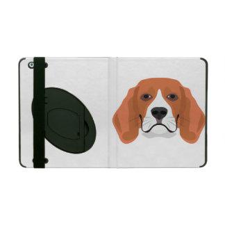 イラストレーション犬の顔のビーグル犬 iPad ケース