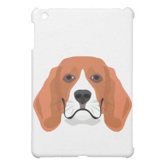イラストレーション犬の顔のビーグル犬 iPad MINIケース
