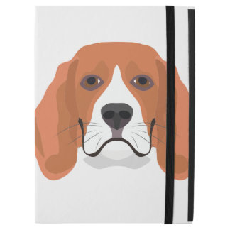 """イラストレーション犬の顔のビーグル犬 iPad PRO 12.9"""" ケース"""