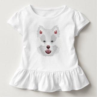イラストレーション犬の顔フィンランドのLapphund トドラーTシャツ