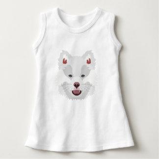 イラストレーション犬の顔フィンランドのLapphund ドレス
