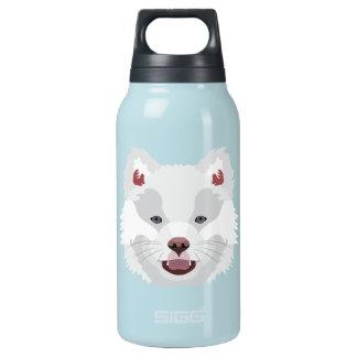 イラストレーション犬の顔フィンランドのLapphund 断熱ウォーターボトル