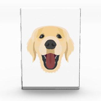 イラストレーション犬の顔金Retriver 表彰盾