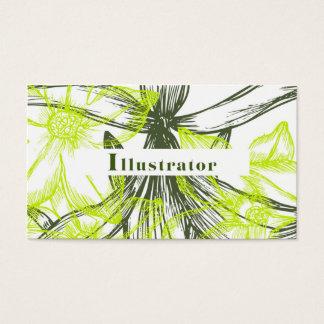 イラストレーターのためのBussinessカード 名刺