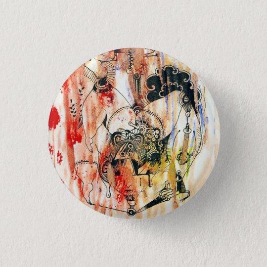 イラスト絵画 缶バッチ。 3.2CM 丸型バッジ