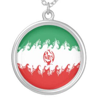 イランのすごい旗 シルバープレートネックレス
