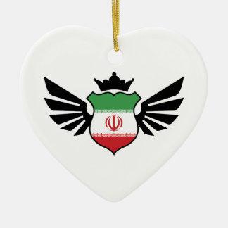 イランのサッカー セラミックオーナメント
