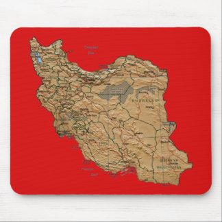イランの地図のマウスパッド マウスパッド