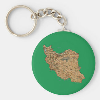 イランの地図Keychain キーホルダー