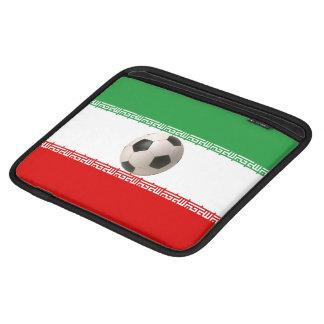 イランの旗が付いている3Dサッカーボール iPad 用スリーブ