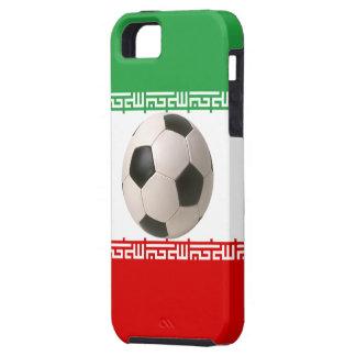 イランの旗のサッカーボールの中心 iPhone SE/5/5s ケース
