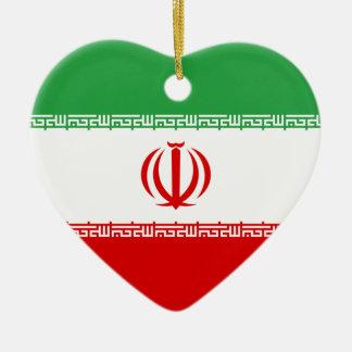 イランの旗のハートのオーナメント セラミックオーナメント