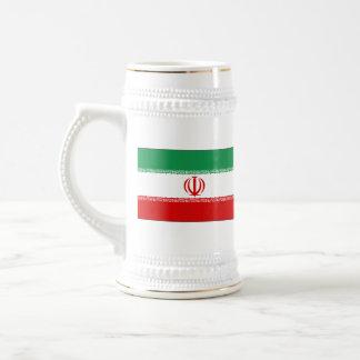 イランの旗の~の地図のマグ ビールジョッキ