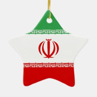 イランの旗 セラミックオーナメント