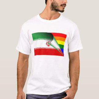 イランゲイプライドの虹の旗 Tシャツ