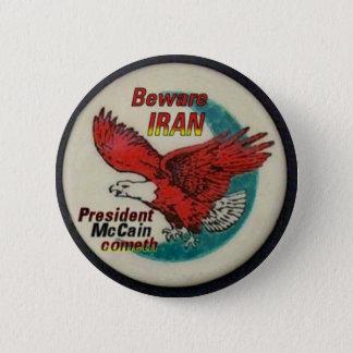 イランボタンを用心して下さい 缶バッジ