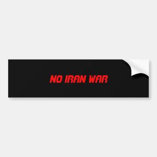 イラン戦争無し バンパーステッカー