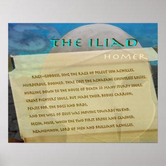 イリアッドスクロールイメージの文字 ポスター
