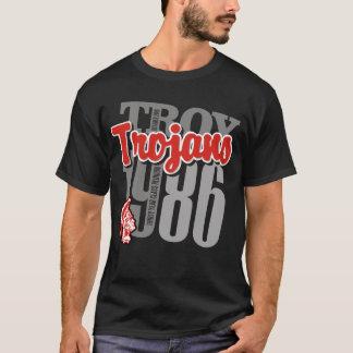 イリオスのトロイ人の黒いティー Tシャツ