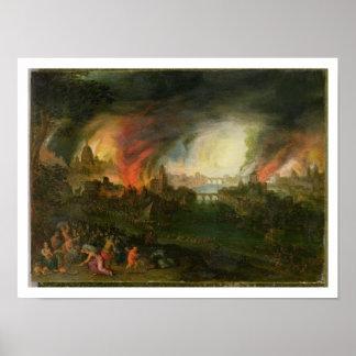 イリオス(銅の油)の焼却 ポスター