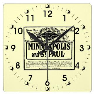 イリノイの中央鉄道ヴィンテージの正方形の時計 スクエア壁時計