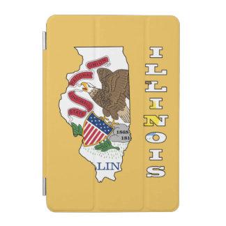 イリノイの地図の旗 iPad MINIカバー