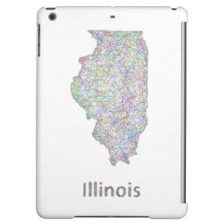 イリノイの地図 iPad AIRケース