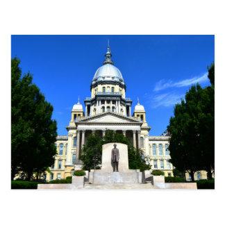 イリノイの州の国会議事堂の建物、スプリングフィールド ポストカード
