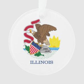 イリノイの州の旗のデザイン オーナメント