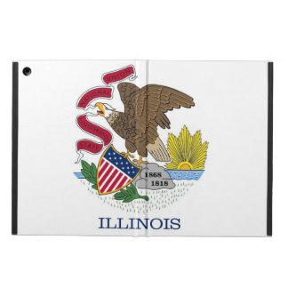 イリノイの旗との愛国心が強いipadの場合 iPad airケース