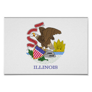 イリノイの旗 ポスター