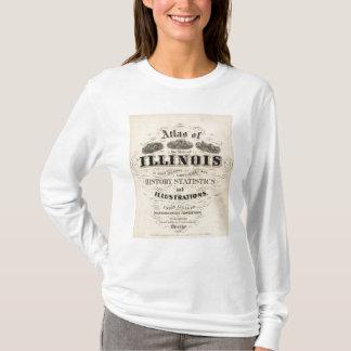 イリノイ州のとびらの地図書 Tシャツ