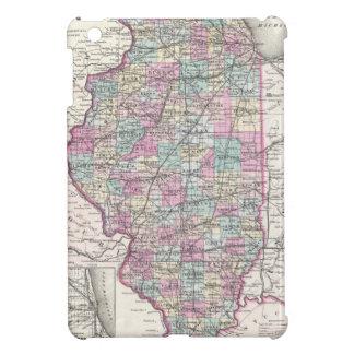 イリノイ、ヨセフHutchins Coltonの地図 iPad Miniケース