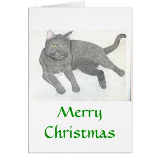 イリーナジュリアハナ著猫のスケッチ カード
