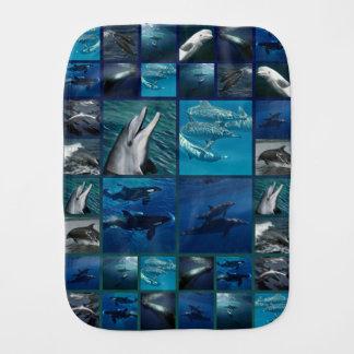 イルカおよびクジラのコラージュ バープクロス