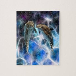 イルカおよびフラクタルの水晶 ジグソーパズル